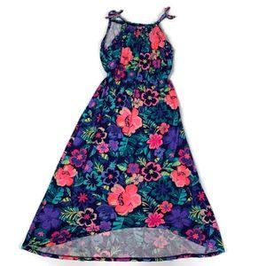 Cherokee Girls M 7/8  Floral Maxi Hi Lo Dress